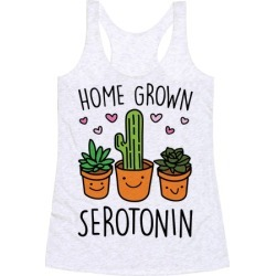 Home Grown Serotonin Racerback Tank from LookHUMAN