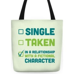 Dating A Fictional Character Tote Bag from LookHUMAN found on Bargain Bro from LookHUMAN for USD $21.27
