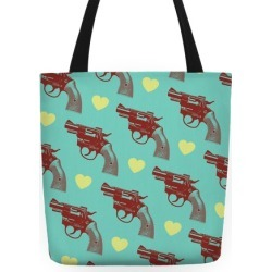 Pistol Tote Tote Bag from LookHUMAN found on Bargain Bro Philippines from LookHUMAN for $24.99