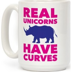 Real Unicorns Have Curves Mug from LookHUMAN found on Bargain Bro Philippines from LookHUMAN for $17.99