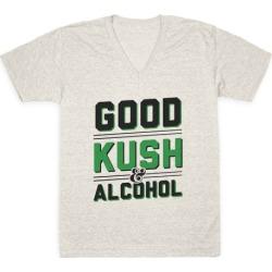 Good Kush & Alcohol V-Neck T-Shirt from LookHUMAN