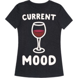 Current Mood Wine White Print T-Shirt from LookHUMAN found on MODAPINS from LookHUMAN for USD $25.99