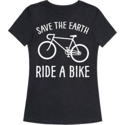 Save The Earth Ride A Bike T-Shirt from LookHUMAN found on Bargain Bro India from LookHUMAN for $25.99