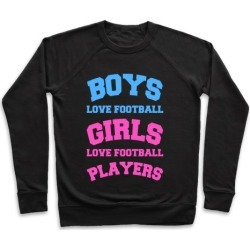 Boys and Girls Love Football Pullover from LookHUMAN
