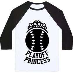 Playoff Princess (Baseball) Baseball Tee from LookHUMAN