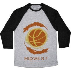 Midwest Basketball Baseball Tee from LookHUMAN