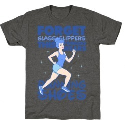 Forget Glass Slippers this Princess Wears Running Shoes T-Shirt from LookHUMAN found on Bargain Bro from LookHUMAN for USD $19.75