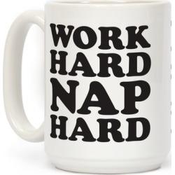 Work Hard Nap Harder Mug from LookHUMAN