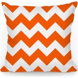 Chevron Pillow (Tangerine) Throw Pillow from LookHUMAN