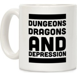 Dungeons, Dragons and Depression Mug from LookHUMAN