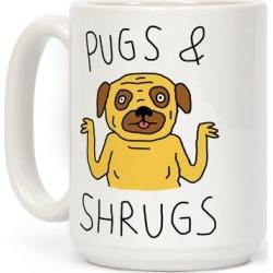 Pugs And Shrugs Dog Mug from LookHUMAN