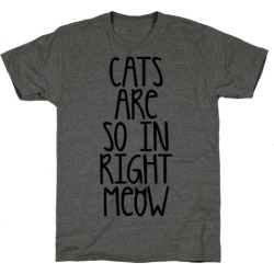 Cats Are So In Right Meow T-Shirt from LookHUMAN