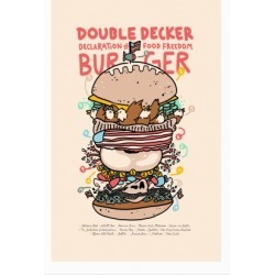'Merican Double Decker Declaration of Food Freedom Burger Recipe Poster from LookHUMAN