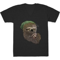 Dank Sloth V-Neck T-Shirt from LookHUMAN found on Bargain Bro Philippines from LookHUMAN for $27.99