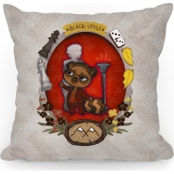 Black Lodge Pillow Throw Pillow from LookHUMAN