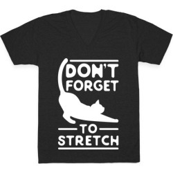 Don't Forget To Stretch V-Neck T-Shirt from LookHUMAN