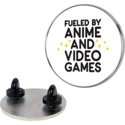 Fueled By Anime And Video Games Pin from LookHUMAN