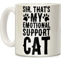 Sir, That's My Emotional Support Cat Mug from LookHUMAN