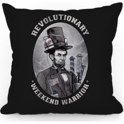 Revolutionary Weekend Warrior Pillow Throw Pillow from LookHUMAN found on Bargain Bro Philippines from LookHUMAN for $37.99