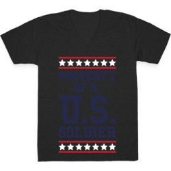 Property Of A U.S. Soldier V-Neck T-Shirt from LookHUMAN found on Bargain Bro from LookHUMAN for USD $21.27