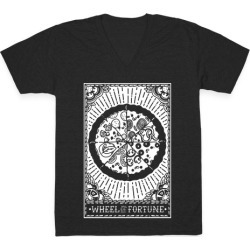 Pizza Wheel of Fortune Tarot Card V-Neck T-Shirt from LookHUMAN