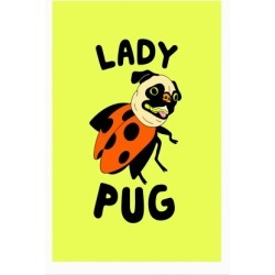 Lady Pug Poster from LookHUMAN found on Bargain Bro Philippines from LookHUMAN for $30.00