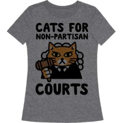 Cats for Non-Partisan Courts T-Shirt from LookHUMAN