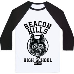 Beacon Hills High School Baseball Tee from LookHUMAN