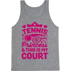 Tennis Princess Tank Top from LookHUMAN