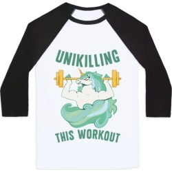 Unikilling This Workout Baseball Tee from LookHUMAN