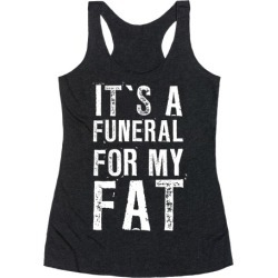 I Wear Black When I Workout Racerback Tank from LookHUMAN