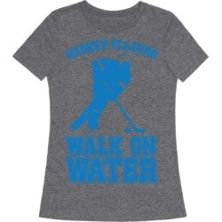 Hockey Players Walk On Water T-Shirt from LookHUMAN