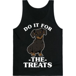 Do It For The Treats Dachshund Tank Top from LookHUMAN
