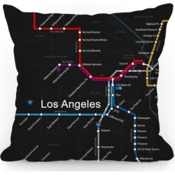 Los Angeles Transit Map Throw Pillow from LookHUMAN found on Bargain Bro Philippines from LookHUMAN for $29.99