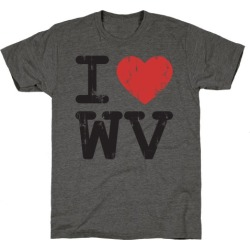I Love West Virginia T-Shirt from LookHUMAN