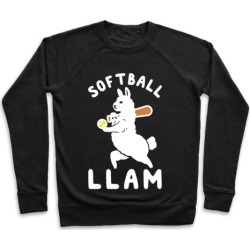 Softball Llam Pullover from LookHUMAN
