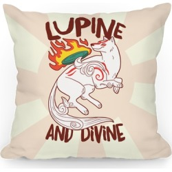 Lupine and Divine Throw Pillow from LookHUMAN found on Bargain Bro India from LookHUMAN for $22.99