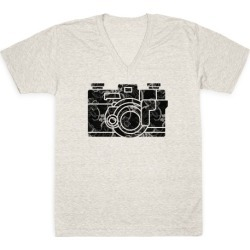 Camera V-Neck T-Shirt from LookHUMAN found on Bargain Bro Philippines from LookHUMAN for $27.99