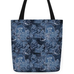 Skulls and Flowers Tote Tote Bag from LookHUMAN found on Bargain Bro Philippines from LookHUMAN for $24.99