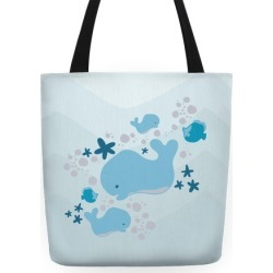 Whale Tote Tote Bag from LookHUMAN