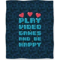 Play Video Games And Be Happy Blanket from LookHUMAN