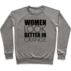 Women Look Better In Orange Pullover from LookHUMAN