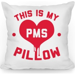 This is My PMS Pillow Throw Pillow from LookHUMAN found on Bargain Bro Philippines from LookHUMAN for $37.99