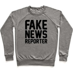 Fake News Reporter Pullover from LookHUMAN found on Bargain Bro Philippines from LookHUMAN for $34.99