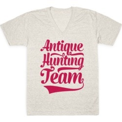 Antique Hunting Team V-Neck T-Shirt from LookHUMAN found on Bargain Bro Philippines from LookHUMAN for $27.99
