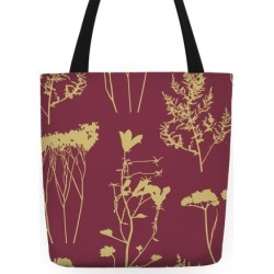 Mauve and Wild Flowers Tote Bag from LookHUMAN found on Bargain Bro Philippines from LookHUMAN for $27.99