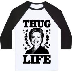Thug Life HRC Baseball Tee from LookHUMAN
