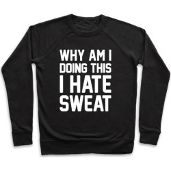 Why Am I Doing This I Hate Sweat - Workout Pullover from LookHUMAN