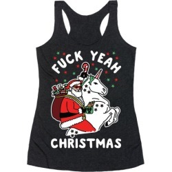 F*** Yeah Christmas Racerback Tank from LookHUMAN