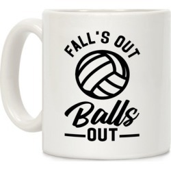 Falls Out Balls Out Volleyball Mug from LookHUMAN